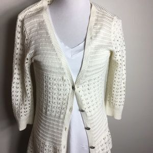DKNY Jeans Crocheted Cardigan